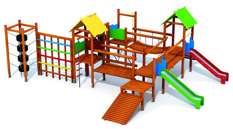 Zestaw zabawowy publiczny plac zabaw