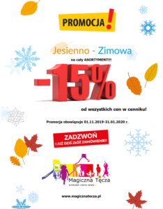 MEGA jesienno-zimowa PROMOCJA! -15% na cały asortyment!!!